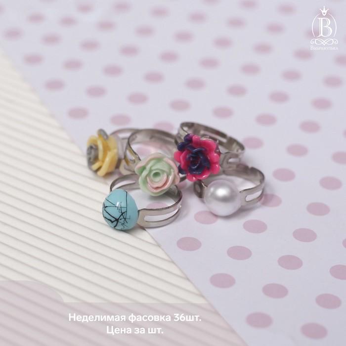Кольца детские Ассорти лилии, форма МИКС, цвет МИКС