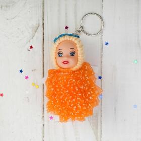 Игрушка куколка-брелок «Девочка-ангелочек», платье в крапинку, цвета МИКС Ош