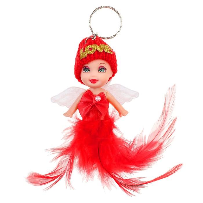 Кукла-брелок Ангелочек, в шапочке, цвета МИКС