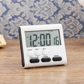 Часы электронные с таймером, настольные, 8х7.5 см, микс Ош