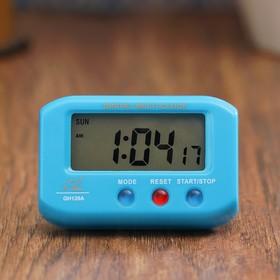 Часы-будильник электронные 'Пейджер', прямоугольные, 6.5х4 см, микс Ош