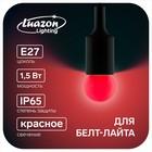 Лампа светодиодная декорат., G45, Е27, 1,5 Вт, для белт-лайта, красный, фасовка по 50 штук
