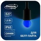 Лампа светодиодная декоративная, G45, Е27, 1,5 Вт, для белт-лайта, синий, фасовка по 50 штук