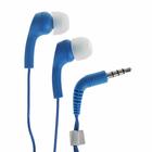 Наушники с микрофоном KOSS KEB9iB Blue, вакуумные, синие