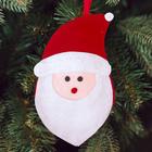 Новогодняя ёлочная игрушка, набор для создания подвески из фетра «Дедушка мороз»