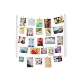 Панно с зажимами для 40 фотографий Hangit, белое Ош
