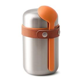 Термос для горячего Food Flask оранжевый, 400 мл