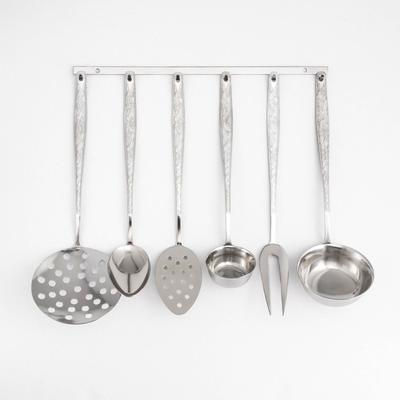 Набор кухонных принадлежностей Добросталь (Нытва) «Уралочка», 6 предметов, толщина 2 мм, упрощённая обработка, на подвесе