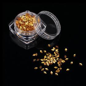 Декоративные элементы «Ромбы», цвет золотистый Ош