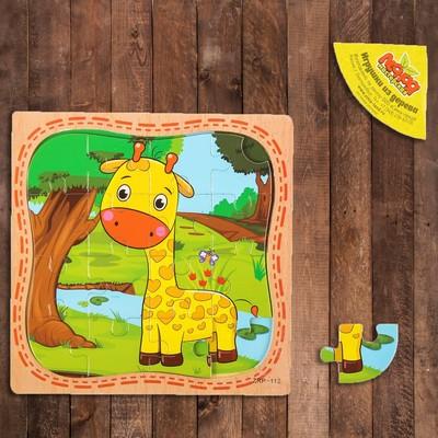 Пазл в рамке «Жираф» - Фото 1