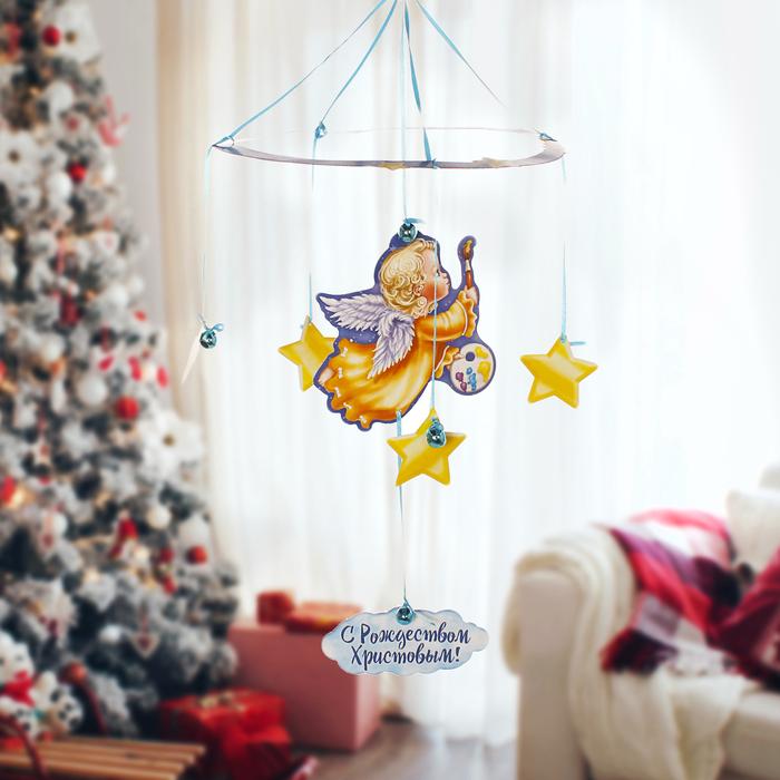 Рождественская подвеска Ангелочек с красками