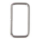 Основа для брелока соединительный элемент прямоугольник серебро 2х3,7 см