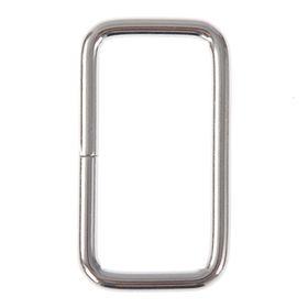 Основа для брелока соединительный элемент прямоугольник серебро 2х3,7 см Ош