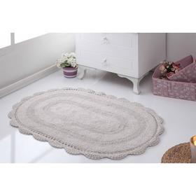 Коврик для ванной овальный Diana, размер 50х80 см, цвет бежевый