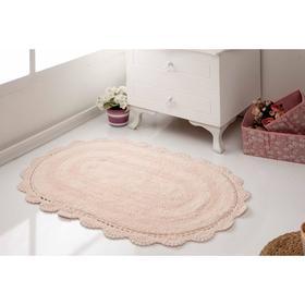 Коврик для ванной овальный Diana, размер 50х80 см, цвет абрикосовый