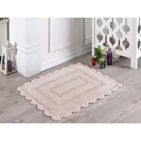 Коврик для ванной Evora, размер 50х70 см, цвет пудра