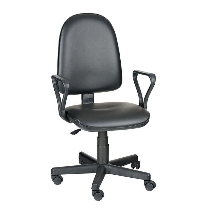 Кресло оператора Престиж  Самба, чёрный, искусственная кожа