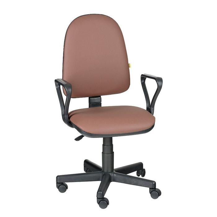 Кресло оператора Престиж  Самба, коричневый, искусственная кожа
