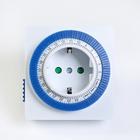 Таймер розеточный Smartbuy, механический, 3500 Вт, 96 вкл./выкл. сутки, интервал 15 мин