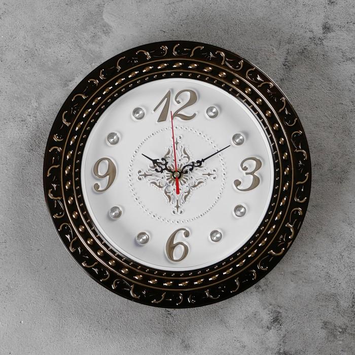 Часы настенные, серия Интерьер, Грата, бронзовые, d29 см