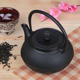 Чайник с ситом «Восточная ночь», 600 мл, цвет чёрный, с эмалированным покрытием внутри Ош