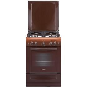 Плита газовая Gefest 6100-02 0010, 4 конфорки, 52 л, газовая духовка, коричневая