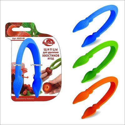 Щипцы для удаления сердцевины и хвостиков ягод, цвет МИКС - Фото 1