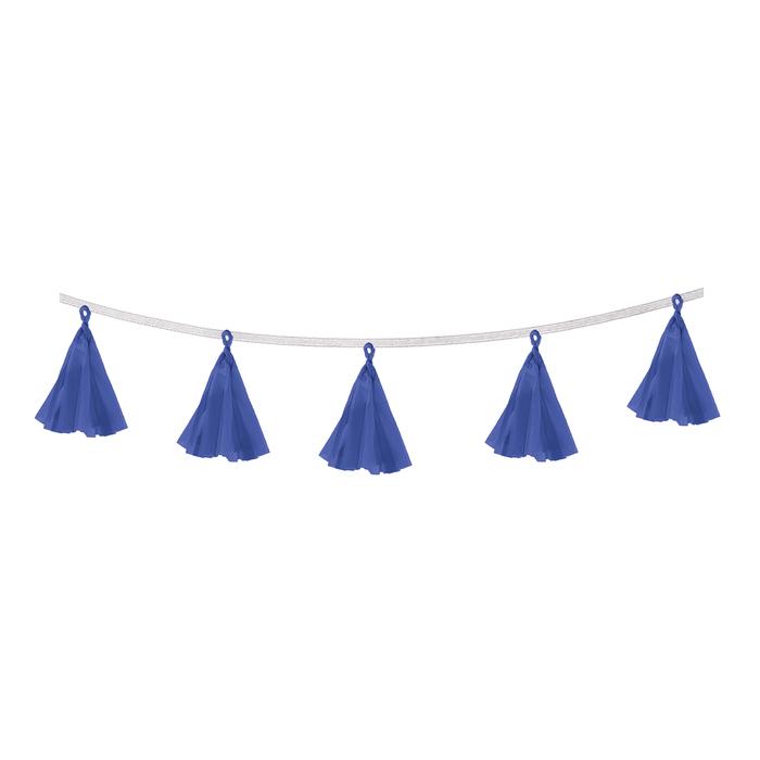Гирлянда-тассел Кисточки, в наборе 5 кисточек, цвет синий