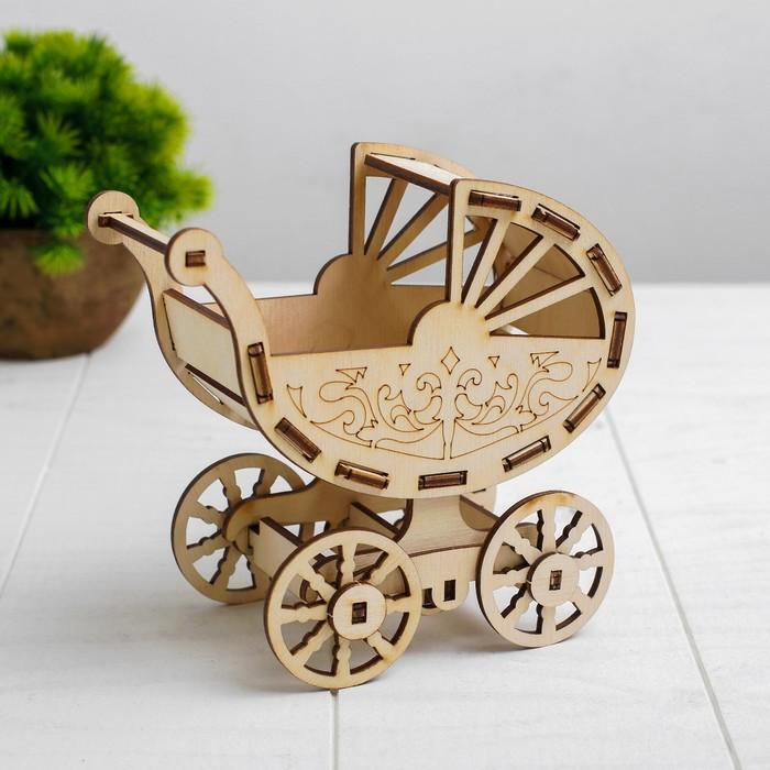 Кукольная коляска-конструктор Коляска для ребёнка 10 см Barbie