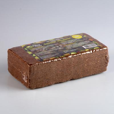 Субстрат кокосовый в блоке, 21 × 11 × 7 см, 6 л, индивидуальная упаковка