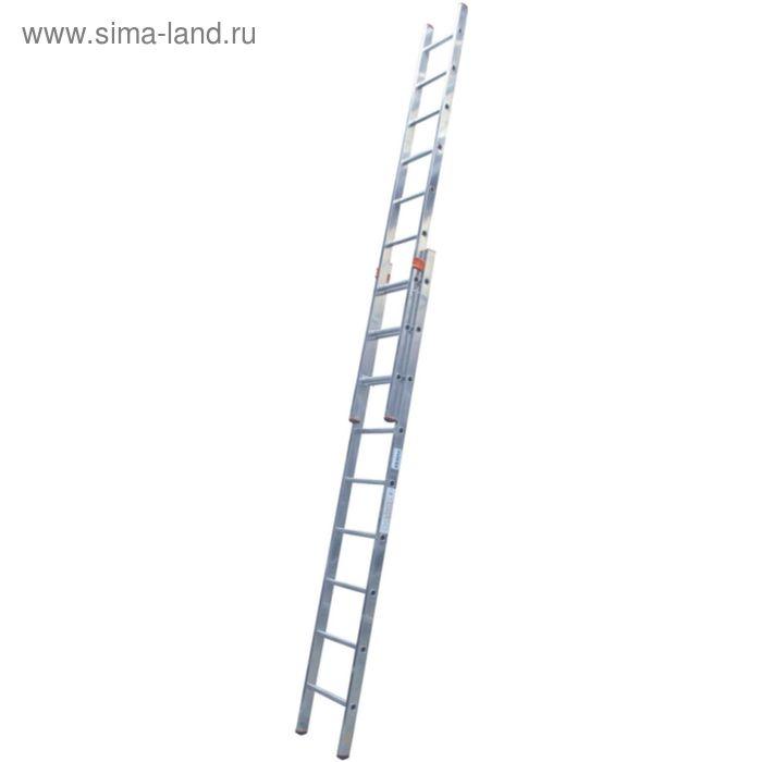 Лестница KRAUSE MONTO FABILO, выдвижная, двухсекционная, 9 ступеней
