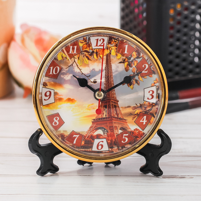 Часы настольные Осень, 10 х 10 см