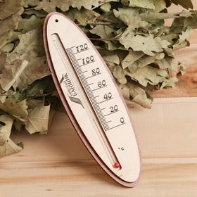 Термометр для бани жидкостный, фанера (овал) Ош
