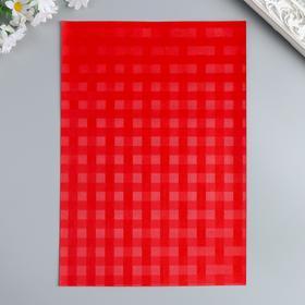 Бумага для творчества фактурная 'Переплёт красный' формат А4 Ош