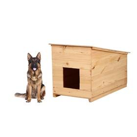 Будка для собаки, 70 × 60 × 110 см, деревянная, с крышей Ош