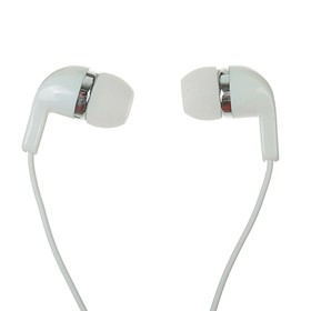 Наушники OXION HS2005WH, вакуумные, микрофон, 106 дБ, 16 Ом, 3.5 мм, 1.2 м, белые