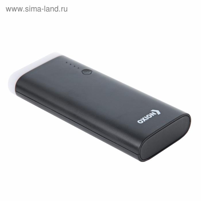 Внешний аккумулятор OXION Powerful 10000 Li-ion OPB-1010 3 USB 2A, чёрный, пластик
