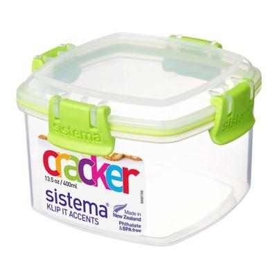 Контейнер для крекеров Sistema, 400 мл, цвет МИКС - Фото 1