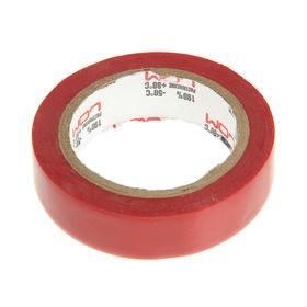 Изолента LOM, ПВХ, 15 мм х 7 м, 130 мкм, красная Ош