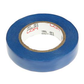 Изолента LOM, ПВХ, 15 мм х 14 м, 130 мкм, синяя Ош