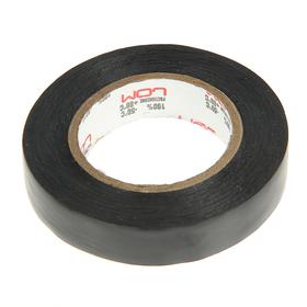 Изолента LOM, ПВХ, 15 мм х 14 м, 130 мкм, черная Ош