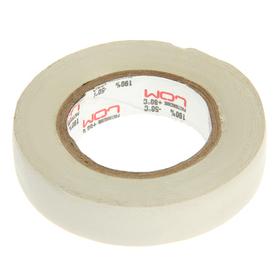 Изолента LOM, ПВХ, 15 мм х 14 м, 130 мкм, белая Ош