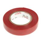 Изолента LOM, ПВХ, 15 мм х 14 м, 130 мкм, красная