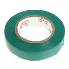 Изолента LOM, ПВХ, 15 мм х 14 м, 130 мкм, зеленая