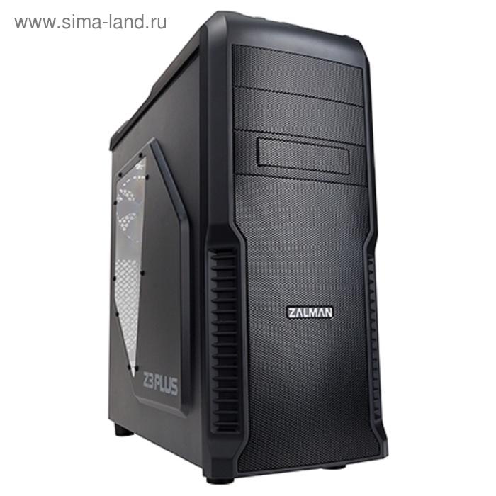 Корпус Zalman Z3 Plus, Без БП, ATX, черный