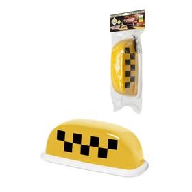 Знак 'ТАКСИ' 'Шашечки' 'ГЛАВДОР' 'Special' с подсв., 4 магн., 25х10х12 см, желтый, 12В Ош