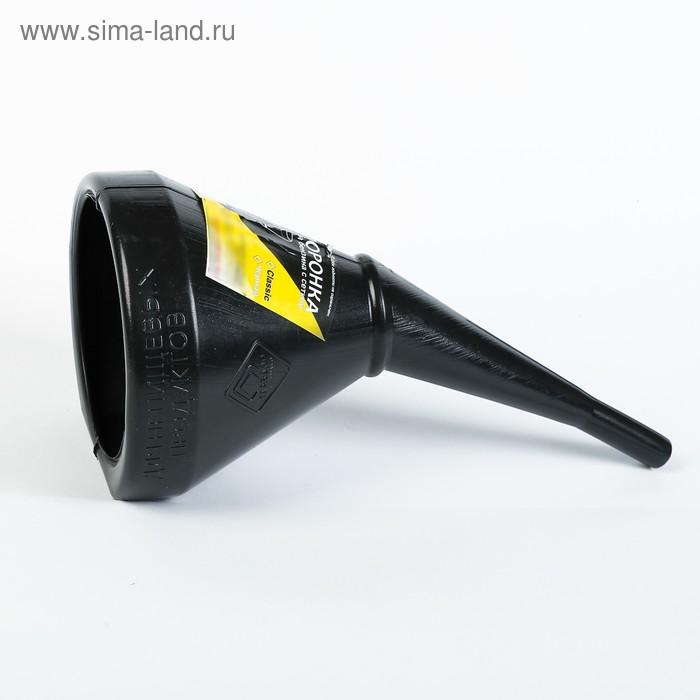 """Воронка для бензина с сеткой """"ГЛАВДОР"""" Classic, черная"""