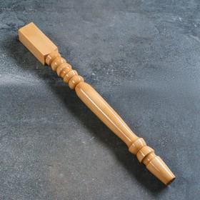 Ножка-балясина из массива бука, лакированная, натуральный цвет, 73 см, сорт AB Ош