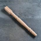 Ножка-балясина из массива бука, нелакированная, натуральный цвет, 73 см, сорт AB