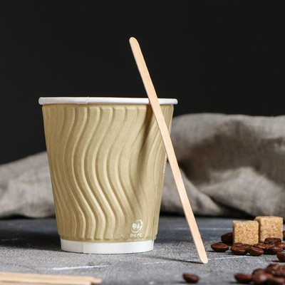 Палочка размешиватель деревянная, 140х6х1,3 мм - Фото 1